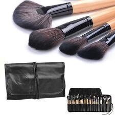 Makeup Brush Set Wooden Handle Cosmetics Fan Contour Eye Bamboo Foundation