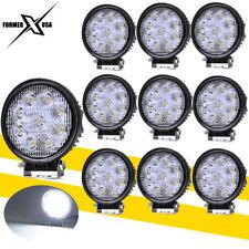 10x 4inch 27W Round LED Work Lights Pods SPOT Beam Offroad Fog Driving Light 12V
