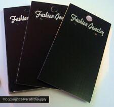 25 Black earring jewelry display cards for pierced earrings peg hook ready JD025