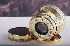SONNAR Carl Zeiss Jena Gold 2.8/ 52mm M39 Lens Germany for Leica( replica ) Exce