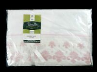 Vtg Wamsutta Lustercale Pink Crowning Touch New Twin Flat Sheet Shabby Chic NOS