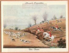 1800s A Celebrated Fox Hunt: The Chase 1930s Ad Trade Card