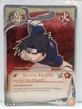 """Naruto Sasuke N-020 """"Individual Play"""" Super Rare NM"""