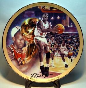 """Michael Jordan 1995 Bradford Exchange LE 8"""" Collectors Plate - 1991 Championship"""