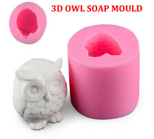 3D OWL Soap Mould Candle Melt Hand Craft Silicone Cake Fondant Chocolate Mold PQ