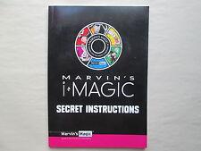 MARVIN'S i MAGIC Secret Instructions 2015 Paperback Manual