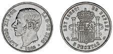 5 SILVER PESETAS / PLATA. DURO. MADRID ALFONSO XII. 1882/1*. VF+/MBC+.
