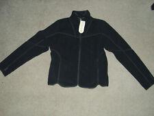 NEW Merrell Mens Full Zip Sweater Fleece Jacket Outdoors Gear Size L Black RARE