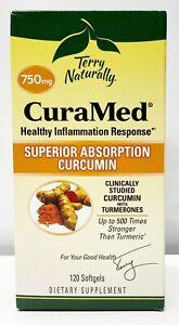 Terry Naturally CuraMed Superior Absorption Curcumin 750mg Fresh Softgels 120