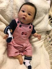 Reborn Baby Doll Liling By Ping Lau 20 Inch With COA Full Limbs, Belly Plate