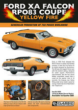 Classic Carlectables Ford XA Falcon Rpo83 Coupe Yellow Fire 18703