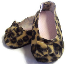 "Leopard Print Bow Shoes made for 18"" American Girl Doll Clothes"