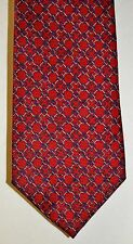 Men's Necktie by Tommy Hilfiger Red Gold Blue 100% Silk 9 Pics. Made in U.S.A