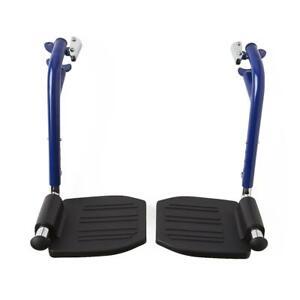 Blue Footrest Standard Wheelchairs, Swing Away Wheelchair LegRests & Heel Loops