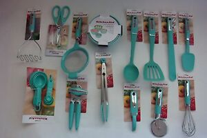 New Set of 29 Utensils KitchenAid Aqua Sky Shears Basting Spoon (Color: HAQA)