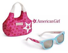 AMERICAN GIRL STARRY SUNGLASSES w case & Pink Stars Tote Handbag Purse NEW N BOX