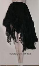 Black Lace Spanish Gothic Bohemian Black Fairy Skirt ~ SALE ~ FREE SIZE 8 - 20