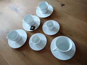Nespresso Ritual Collection 12-Piece Porcelain Espresso/Lungo Cup & Saucer Set