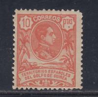 GUINEA (1909) NUEVO CON FIJASELLOS MLH - EDIFIL 71(10 pts) ALFONSO XIII - LOTE 1