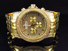 Mens Genuine Diamond Icetime Storm Watch ST-02 In Yellow Gold Finish (.10 Ct)