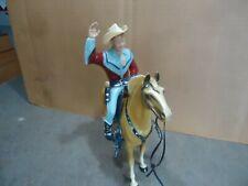 Original 1950's Hartland vtg western Roy Rogers w/ horse - hat - guns cowboy