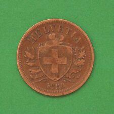 1850 Switzerland 2 Rappen SNo44498