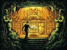 Indiana Jones silkscreen art poster print by Dan Mumford