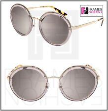 PRADA CINEMA Round EVOLUTION Sunglasses 50T Transparent Grey Silver MIrror PR50T