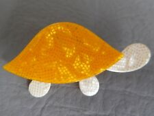 LEA STEIN ANCIENNE BROCHE RHODOÏD TORTUE JAUNE ECRU VINTAGE TURTLE YELLOW BROOCH