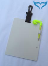 Unterwasser Schreibtafel Karabiner Stift & Halter einblättrig UW groß 15x18,5 cm