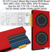 3S 80A 100A 120A 150A  200A 12V 3.7V Li-ion Lithium Battery Protection BMS Board