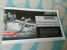 Transformers MOVIE WINGBLADE INSTRUCTION BOOKLET ONLY