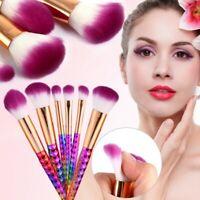 6PCS Colorido Pro Juego de Brochas Maquillaje Polvo Sombra Ojos Colorete Cepillo