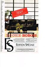 PUBLICITE ADVERTISING  1981   ROCHE & BOBOIS   canapé SHERPA