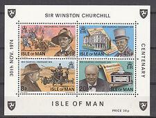 Insel Man Block 1 postfrisch Sir Winston Spencer Churchill