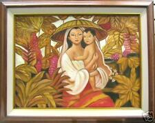 Mother & Child Art Philippines Oil Painting