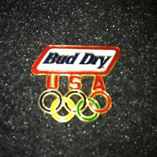 Rare Olympic Pin! Bud Dry Beer - Undated - Excellent cond.