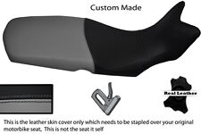 GREY AND BLACK CUSTOM FITS BMW F 650 GS 08-12 REAL LEATHER SEAT COVER