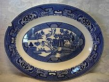 Collectible Vintage 1940's HOMER LAUGHLIN Blue Willow Plate/Platter