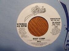 "PROMO 7"" EPIC 45 RECORD/PFC / BOOT CAMP/ 1985 NR MINT VINYL"