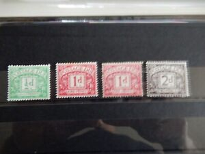GB Early Postage Due Selection x 4 (Various Shades) - Mint Hinged (MM)