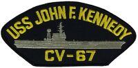 USS JOHN F KENNEDY CV-67 PATCH USN NAVY SHIP CARRIER BIG JOHN CAN OPENER BLDG 67
