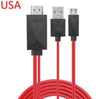 "MHL Micro USB HDMI HDTV AV TV Adapter Cable For Samsung Galaxy Tab 4 SM-T531 10"""