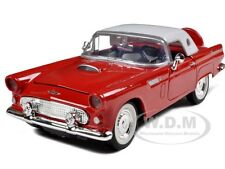 1956 FORD THUNDERBIRD SOFT TOP RED 1/24 DIECAST MODEL CAR BY MOTORMAX 73312