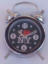 I HEART NY LOVE NEW YORK PORTABLE TRAVEL ALARM CLOCK MINI MANUAL 3H X 2W