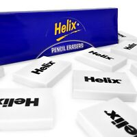Helix – Pencil Erasers Rubbers – Large – White – Display Pack of 10