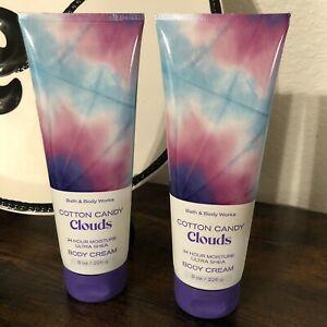 2 Bath & Body Works Cotton Candy Clouds Ultra Shea Body Cream Lotion