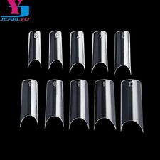 500 Pcs Clear Nail Tips High Quality Plastic Nails C Shape Faux Ongle French …