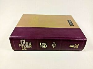 VG! 1984 NIV International Inductive Study Bible LRG Print HC Color Maps Notes J