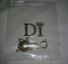 New DI Diamonds International Turtle Gold Colored Bracelet Charm bracelet piece